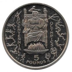 Moneda 5 Libras Gibraltar Centenario Juegos Olimpicos 1996 - ALOTCOINS