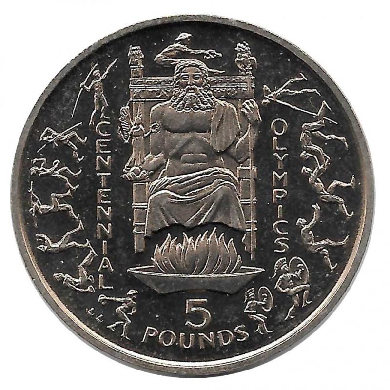 Münze 5 Pfund Gibraltar 100 Jahre Olympia 1996 - ALOTCOINS