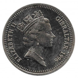 Coin 5 Pounds Gibraltar Centennial Olympics Zeus 1996 - ALOTCOINS