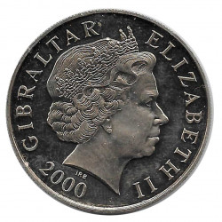 Coin 5 Pounds Gibraltar Battle of Britain Year 2000 - ALOTCOINS