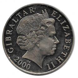 Moneda 5 Libras Gibraltar Batalla de Inglaterra Año 2000 - ALOTCOINS