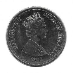 Münze 3 Pfund Gibraltar Frieden von Utrecht Jahr 2013 - ALOTCOINS