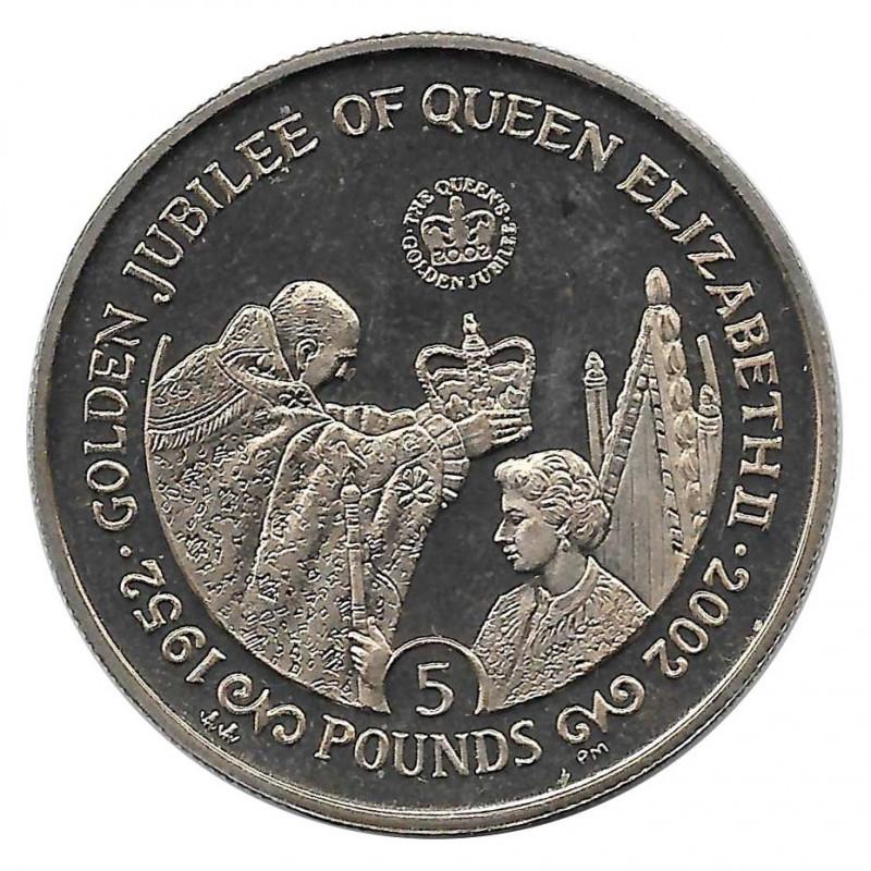 Münze 5 Pfund Gibraltar Goldenes Jubiläum Königin Jahr 2002 - Alotcoins