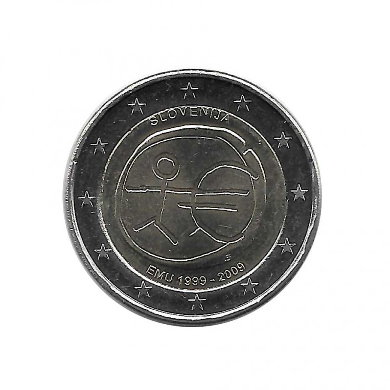 Moneda 2 Euros Conmemorativa Eslovenia EMU Año 2009 | Numismática Online Alotcoins