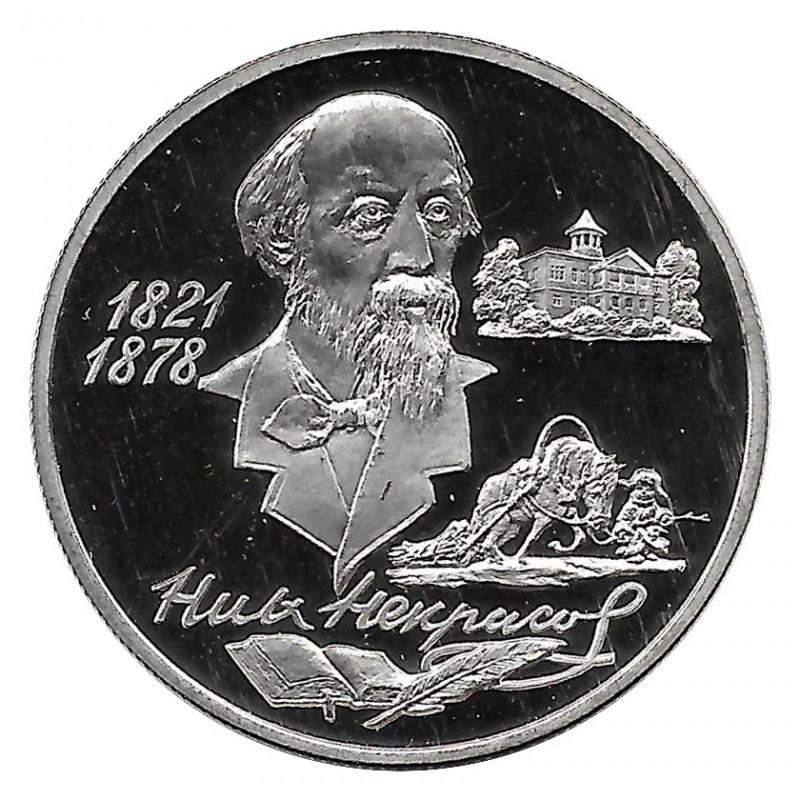 Münze Russland 1996 2 Rubel Nikolai Nekrasov Silber Proof PP