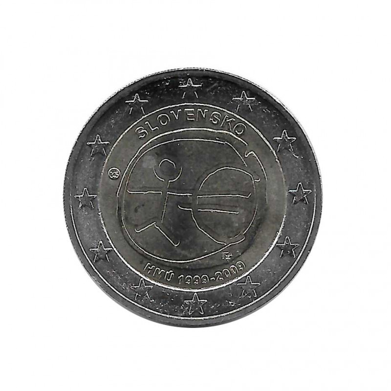 Commemorative Coin 2 Euros Slovakia EMU Year 2009 | Numismatics Online - Alotcoins