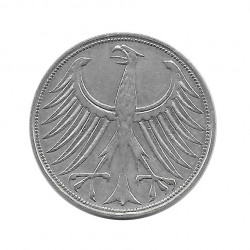 Coin 5 German Marks GDR Eagle D Year 1957 | Numismatics Online - Alotcoins