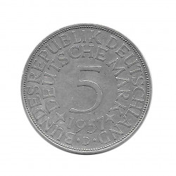 Coin 5 German Marks GDR Eagle D Year 1957 | Numismatics Online - Alotcoins