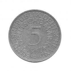 Moneda 5 Marcos Alemanes DDR Águila D Año 1957 | Numismática Online - Alotcoins