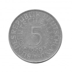 Coin 5 German Marks GDR Eagle D Year 1959 | Numismatics Online - Alotcoins