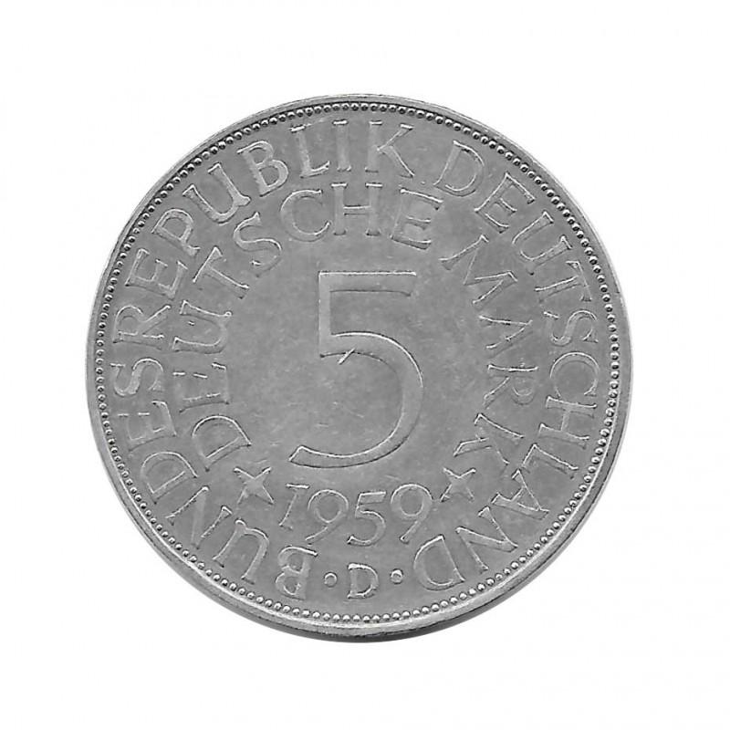 Coin 5 German Marks GDR Eagle D Year 1959 | Numismatics Online - Alotcoins