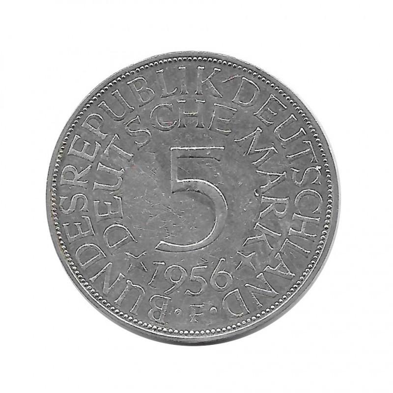 Münze 5 Deutsche Mark DDR Adler F Jahr 1956   Numismatik Online - Alotcoins