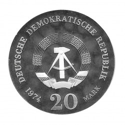Coin 20 German Marks GDR Immanuel Kant Year 1974 | Numismatics Online - Alotcoins