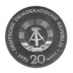 Moneda 20 Marcos Alemanes DDR Wilhelm Liebknecht Año 1976 | Numismática Española - Alotcoins