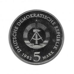Moneda 5 Marcos Alemanes DDR Casa Jardin Goethe Weimar Año 1982 | Numismática Española - Alotcoins