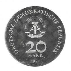 Moneda 20 Marcos Alemanes DDR Clara Zetkin Año 1982 | Numismática Online - Alotcoins