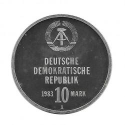Münze 10 Deutsche Mark DDR Kampfgruppen Jahr 1983 | Numismatik Online - Alotcoins
