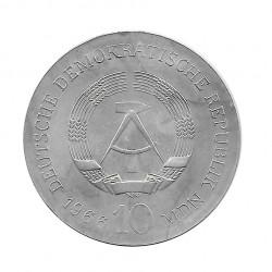 Moneda 10 Marcos Alemanes DDR Karl Friedrich Schinkel A Año 1966 | Numismática Online - Alotcoins