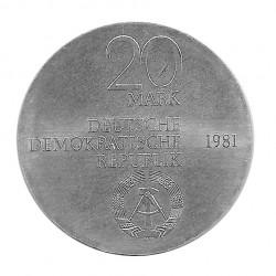Moneda 20 Marcos Alemanes DDR Heinrich Friedrich Año 1981 | Numismática Online - Alotcoins