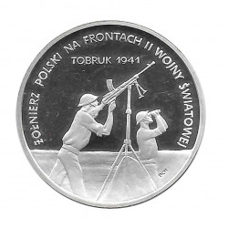Coin 100,000 Złotych Poland Battle for Tobruk Year 1991 | Numismatics Online - Alotcoins