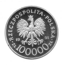 Münze 100.000 Złote Polen Schlacht um Tobruk Jahr 1991 | Numismatik Online - Alotcoins