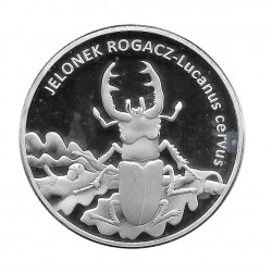 Moneda 20 Zlotys Polonia Escarabajo Ciervo Volante Año 1996 | Numismática Online - Alotcoins