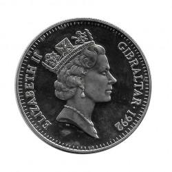 Moneda 2,8 ECUs 2 Libras Gibraltar Carlomagno Año 1992 | Numismática Online - Alotcoins
