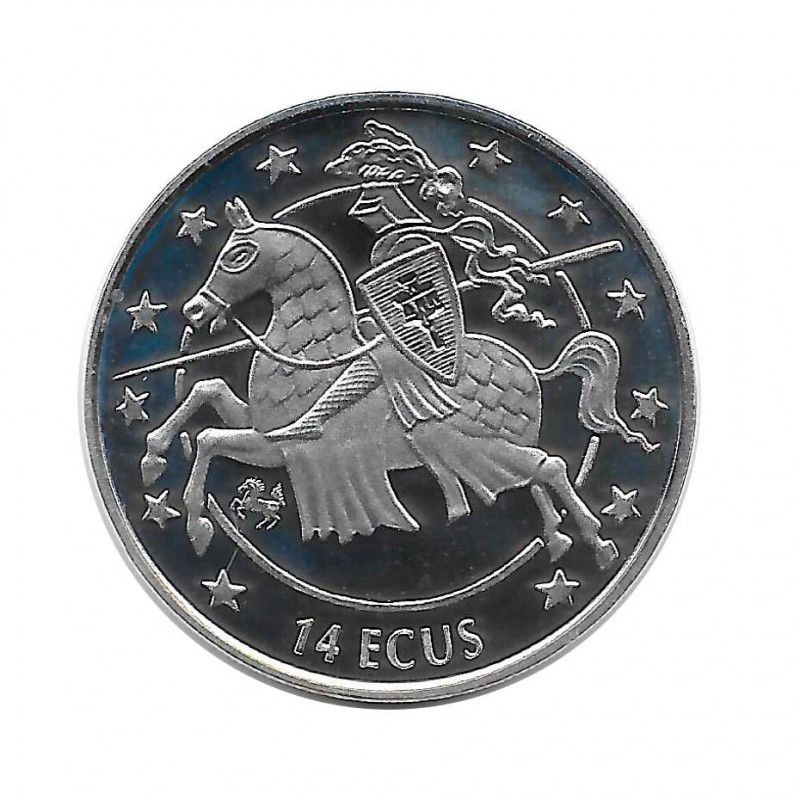 Moneda 14 ECUs Gibraltar Caballero Año 1994 | Numismática Online - Alotcoins