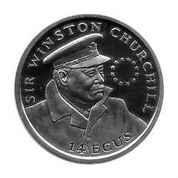 Moneda 14 ECUs Gibraltar Winston Churchill Año 1993 | Numismática Online - Alotcoins