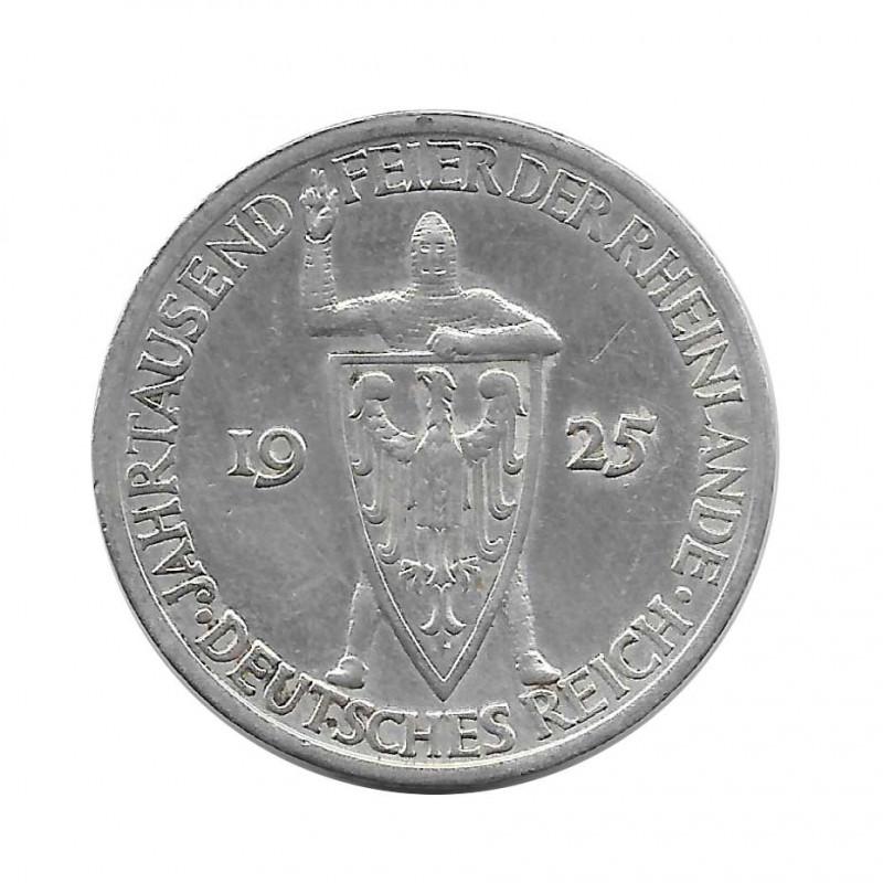 Coin 3 Reichsmarks Germany 1000th Year Rhineland A Year 1925 | Numismatics Online - Alotcoins