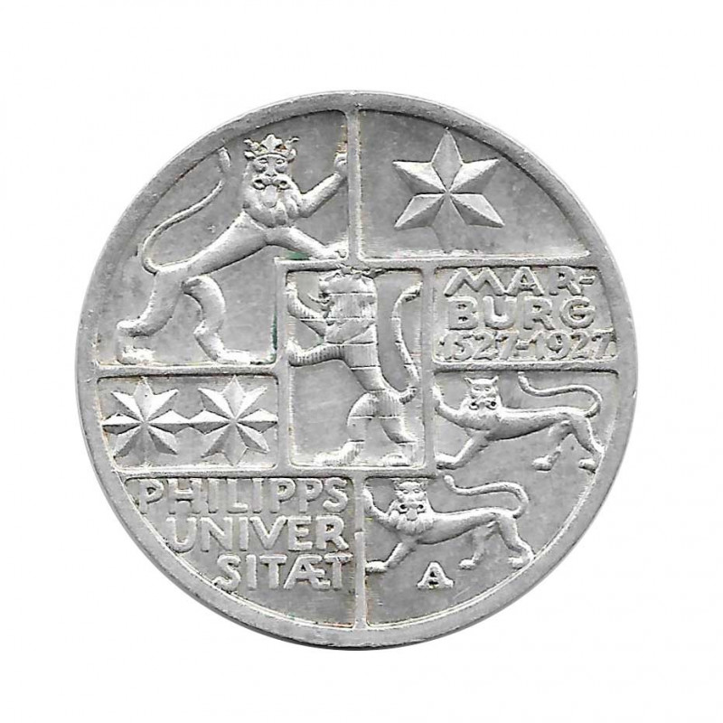 Coin 3 Reichsmarks Germany University Marburg A Jahr 1927 | Numismatics Online - Alotcoins