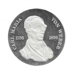 Moneda 10 Marcos Alemanes DDR Carl Maria von Weber A Año 1976 | Numismática Online - Alotcoins