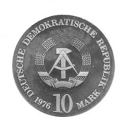 Moneda 10 Marcos Alemanes DDR Carl Maria von Weber A Año 1976 2 | Numismática Online - Alotcoins