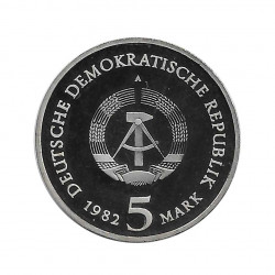 Coin 5 German Marks GDR Wartburg Castle Year 1982 2 | Numismatics Online - Alotcoins