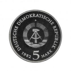 Moneda 5 Marcos Alemanes DDR Castillo Wartburg Año 1982 2 | Numismática Española - Alotcoins
