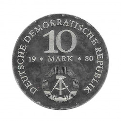 Moneda 10 Marcos Alemanes DDR Scharnhorst Año 1980 2 | Numismática Online - Alotcoins