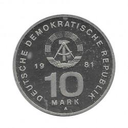 Moneda 10 Marcos Alemanes DDR NVA Año 1981 2 | Numismática Online - Alotcoins