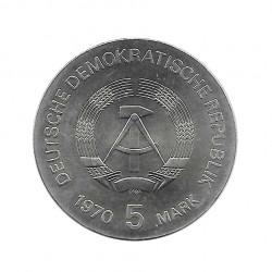 Moneda 5 Marcos Alemanes DDR Wilhelm Röntgen 1970 2 | Numismática Online - Alotcoins