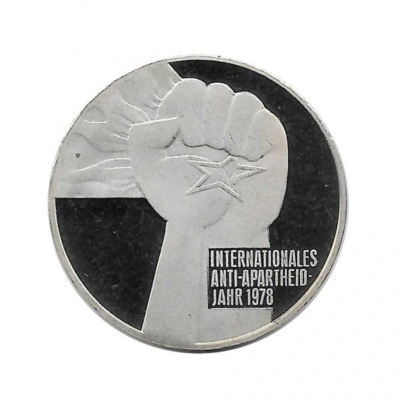 Coin 5 German Marks GDR Anti-Apartheid Year 1978 | Numismatics Online - Alotcoins