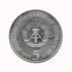 Coin 5 German Marks GDR Schlosskirche Wittenberg Year 1983 A 2 | Numismatics Online - Alotcoins