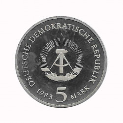 Moneda 5 Marcos Alemanes DDR Martin Lutero Año 1983 A 2 | Numismática Online - Alotcoins
