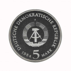 Coin 5 German Marks GDR Leipzig City Hall Year 1984 A 2   Numismatics Online - Alotcoins