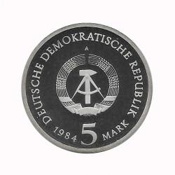 Münze 5 Deutsche Mark DDR Leipziger Rathaus Jahr 1984 A 2 | Numismatik Online - Alotcoins
