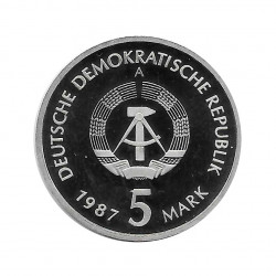 Coin 5 German Marks GDR Nikolaiviertel Berlin Year 1987 A 2 | Numismatics Online - Alotcoins