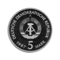 Moneda 5 Marcos Alemanes DDR Nikolaiviertel Berlín Año 1987 A 2 | Numismática Online - Alotcoins