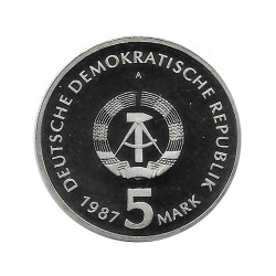 Moneda 5 Marcos Alemanes DDR Alexanderplatz Berlín Año 1987 A 2 | Numismática Online - Alotcoins