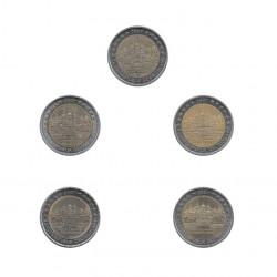 5 Commemorative Coins 2 Euros Germany Mecklenburg-Vorpommern Year 2007 | Numismatics Online Alotcoins