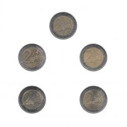 5 Commemorative Coins 2 Euros Germany Mecklenburg-Vorpommern Year 2007 2 | Numismatics Online Alotcoins