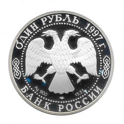 Moneda 1 Rublo Rusia Gacela Persa Año 1997 2 | Numismática Online - Alotcoins