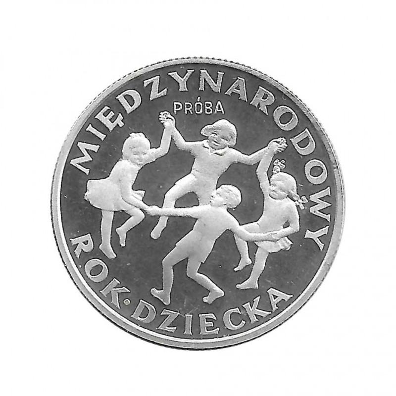 Moneda 20 Zlotys Polonia Año internacional Niño PROBA Año 1979 | Numismática Online - Alotcoins
